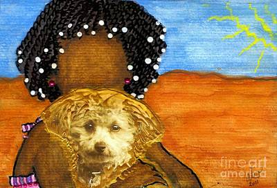 Water Dogs Mixed Media - He's My Very Best Friend by Angela L Walker