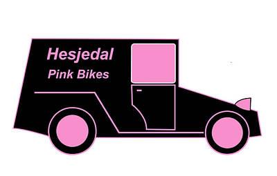Hesjedal Pink Bikes - Virtual Car Art Print by Asbjorn Lonvig