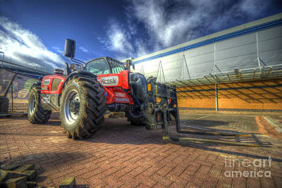 Photograph - Hessle Fork Truck Nt 732 by Yhun Suarez
