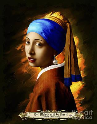 Painting - Het Meisje Met De Parel by Vidka Art