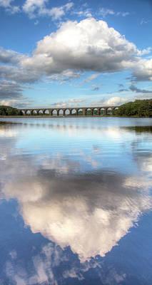Hewenden Reservoir & Viaduct, Yorkshire Art Print by Steve Swis