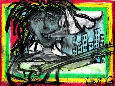 Bobmarley Drawing - Hey Mon by Levi Glassrock