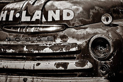 Photograph - Hi-land  -bw by Christopher Holmes