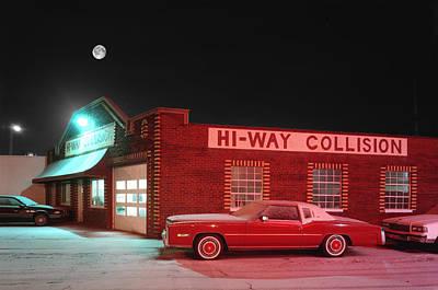 Hi-way Collision Art Print by James Rasmusson