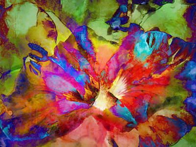 Digital Art - Hibiscus Abstract by Francesa Miller