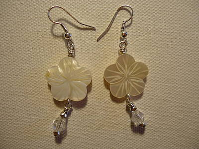 Hibiscus Hawaii Flower Earrings Original by Jenna Green
