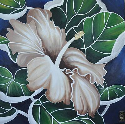 Hibiscus Art Print by Holly Donohoe