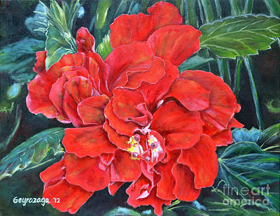 Painting - Hibiscus  by Larry Geyrozaga