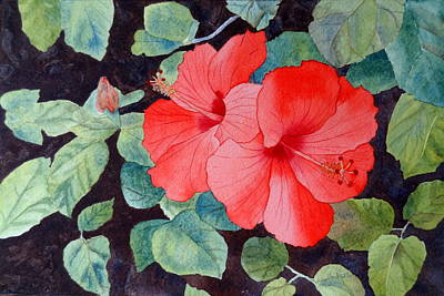 Painting - Hibiscus by Laurel Best