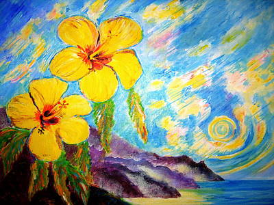 Liberation Painting - Hibiscus by Tamara Tavernier