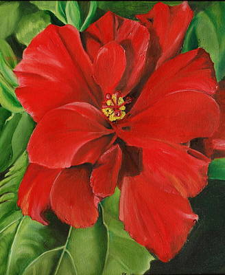 Painting - Hibiscus by Teresa Smith