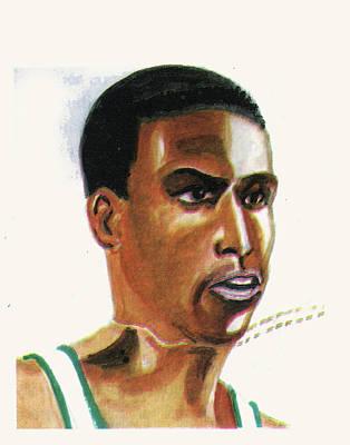 Hichan El Guerrouj Art Print by Emmanuel Baliyanga