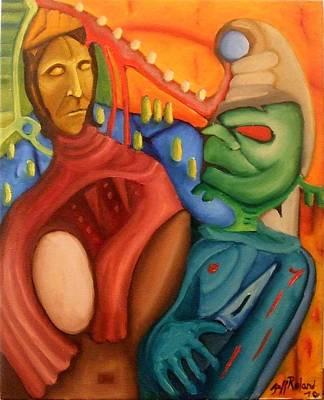 Hidden Agendas Painting - Hidden Agendas by Jeff  Roland