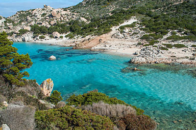 Maddalena Photograph - Hidden Beach In Sardinia by Stefano Oppo