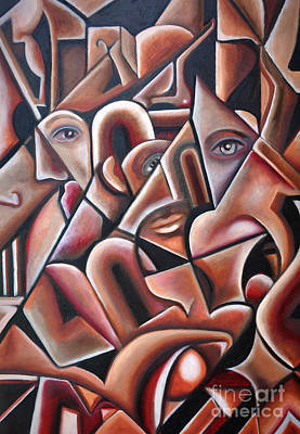 Painting - Hidden Faces by Angela Waye