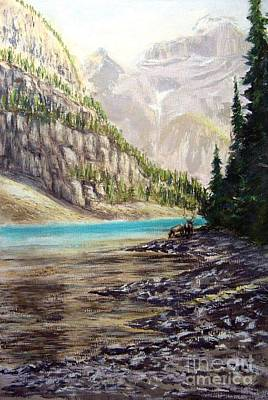 Painting - Hidden Gem In The Rockies by Ronald Tseng