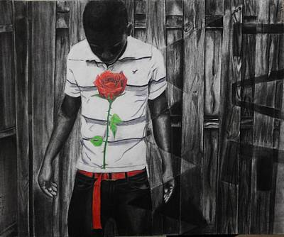 Drawing - Hidden Heart by Kodjo Somana