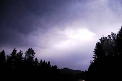 Lightning Photograph - Hidden Lightning by Don Mann