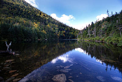 New Hampshire Tours Photograph - Hidden Mountain Pond  by Skip Willits