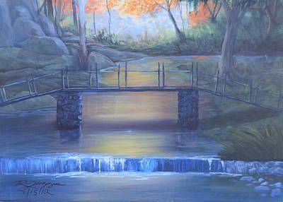 Babbling Brook Painting - Hidden Treasures by Reggie Jaggers