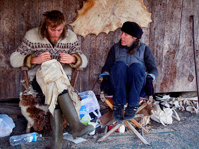 Photograph - Hide Makers by Nancy Griswold