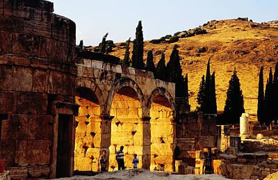 Hierapolis Ruins Near Hillside Art Print by Izzet Keribar