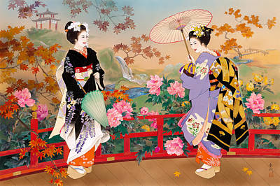 Kimonos Photograph - Higasa by Haruyo Morita