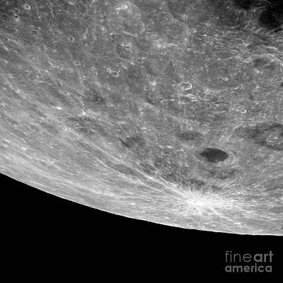 High Altitude Oblique View Of The Lunar Art Print by Stocktrek Images