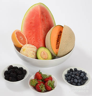 Cantaloupe Photograph - High Carbohydrate Fruit by Photo Researchers, Inc.