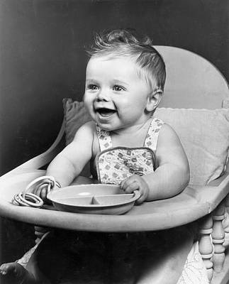 High Chair Hijinks Art Print by Archive Photos