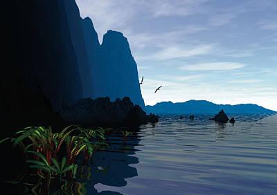 Robert Duvall Digital Art - High Cliffs Morning by Robert Duvall