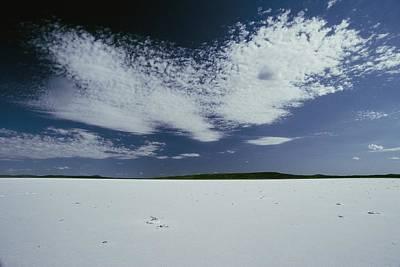 High Clouds Form Above Lake Gairdner Art Print by Jason Edwards