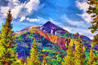 Art Print featuring the digital art High Country Pyramid by Brian Davis