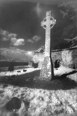 Grave Yard Photograph - High Cross by Simon Marsden