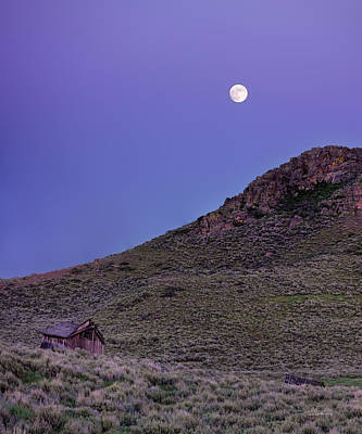 Photograph - High Desert Moonrise by Leland D Howard