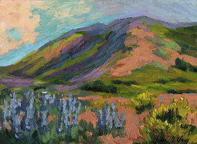 Lupine Painting - High Desert Spring by Diane McClary