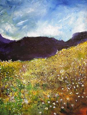 High Field Of Flowers Art Print by Gary Smith