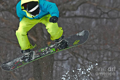 Snowboarder Photograph - High Flyin' by Lois Bryan