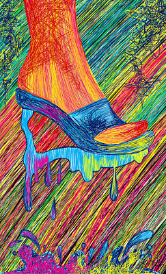 High Heels Abstraction Art Print by Kenal Louis