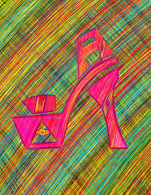 Drawing - High Heels Power by Kenal Louis