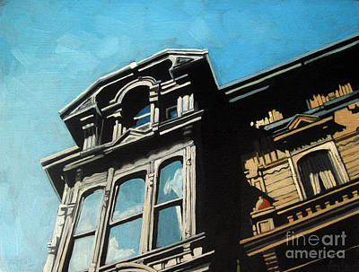 High In The Sky - City Columbus Ohio Art Print by Linda Apple