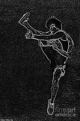 Digital Art - High Kick II by Debbie Portwood