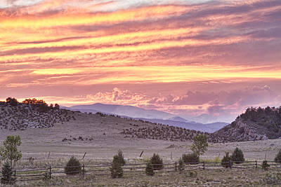 High Park Fire Larimer County Colorado At Sunset Print by James BO  Insogna