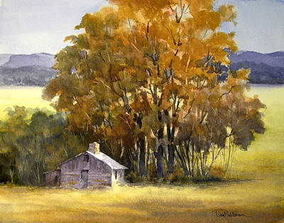 Painting - High Plains Windbreak by Tina Bohlman