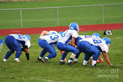 Photograph - High School Football A by Susan Stevenson