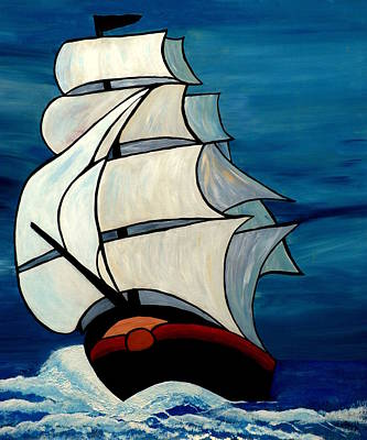 Painting - High Sea by Cynthia Amaral