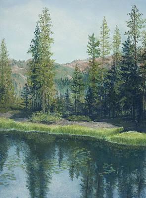 Pastel - High Sierra Lake  by Martha J Davies