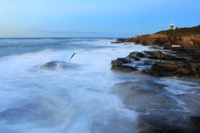 Photograph - High Surf At Beavertail State Park by John Burk