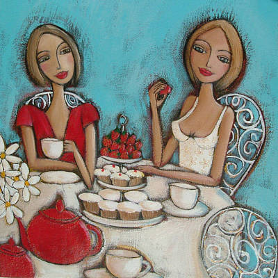 Teapot Painting - High Tea by Denise Daffara