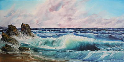 Art Print featuring the painting High Tide by Christie Minalga